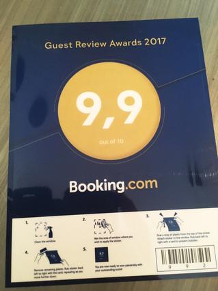 Merci à nos hôtes venus via booking.com pour leurs commentaires