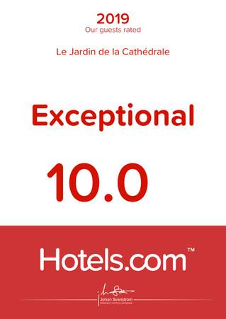 Our hotels.com hosts love Le Jardin de la Cathédrale
