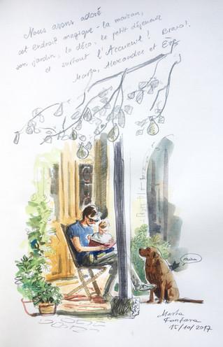 L'illustratice Marta Fontana nous laisse un magnifique souvenir de son séjour au Jardin de la Ca
