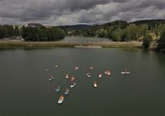 Paddleboardy na Jablonecké přehradě