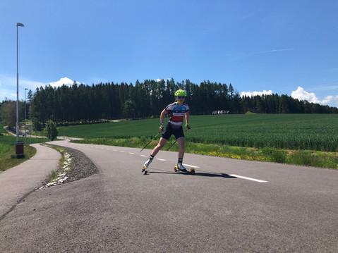 Letní biatlon v Krkonoších