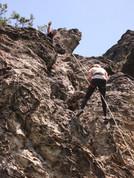 Slaňování ve skalách