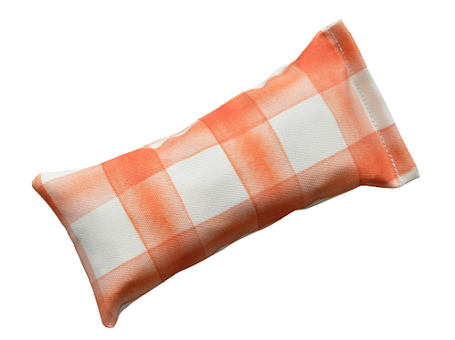 orange plaid canvas toys