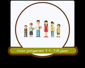 Doelgroep jongeren 11-18 jaar