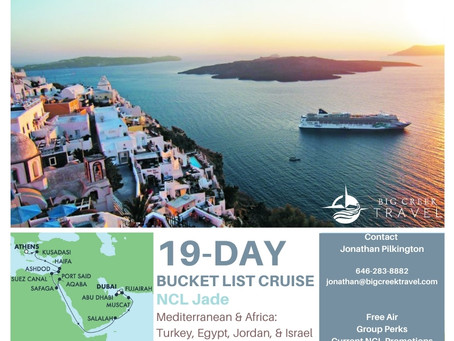 2022 Bucket List Cruise: Athens to Dubai!