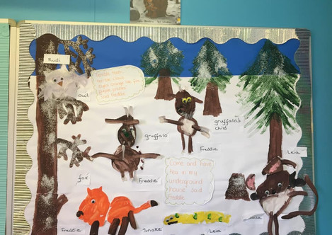 The Gruffalo wall display