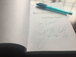 Laura Rudacille signed book