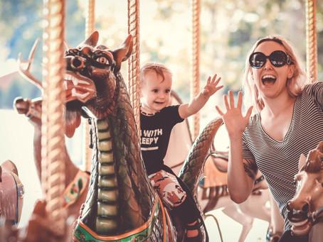 Lidias First Carousel Ride!