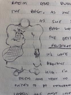 Sketch for I caught the devil (2020)
