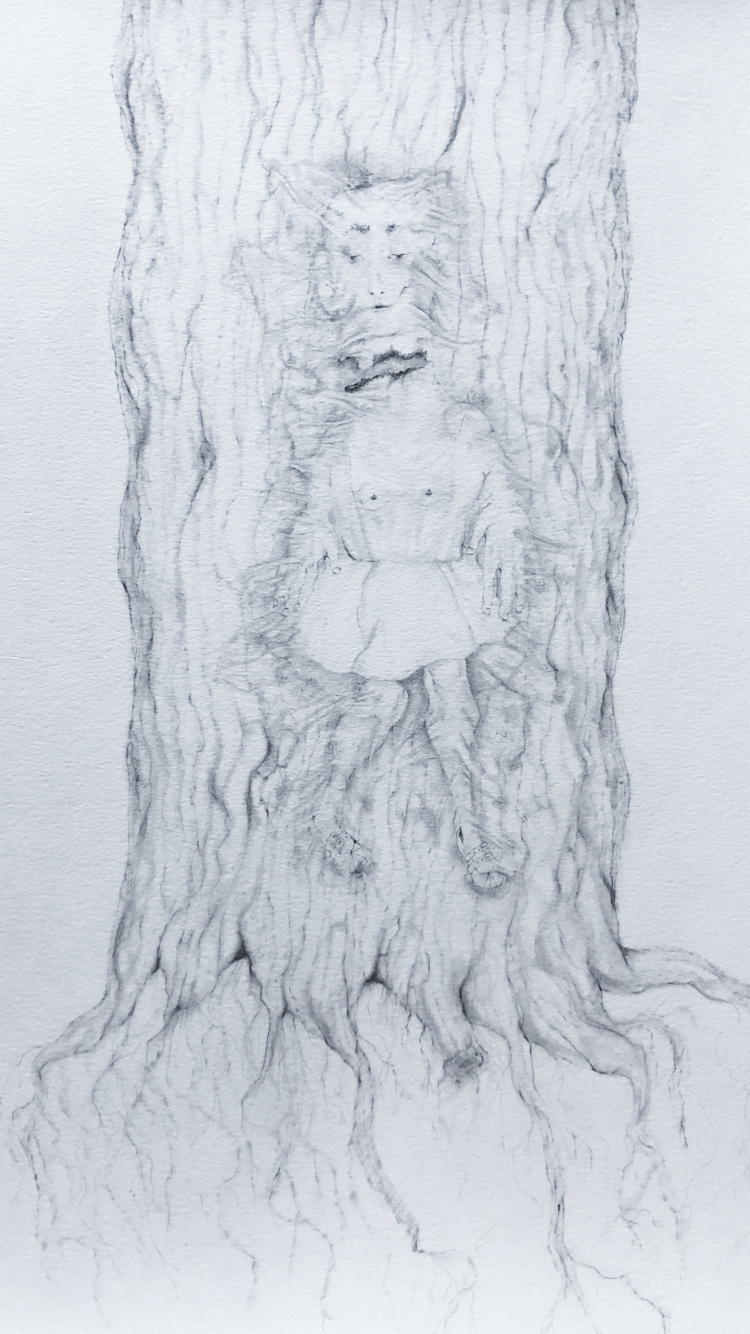 Alice glued to a tree (2021)