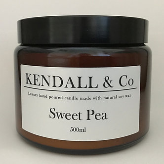 Sweet Pea Three-Wick Candle 500ml