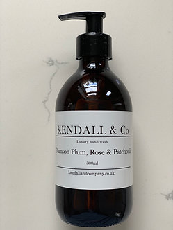 Damson Plum, Rose & Patchouli Hand Wash 300ml *SILVER PUMP*
