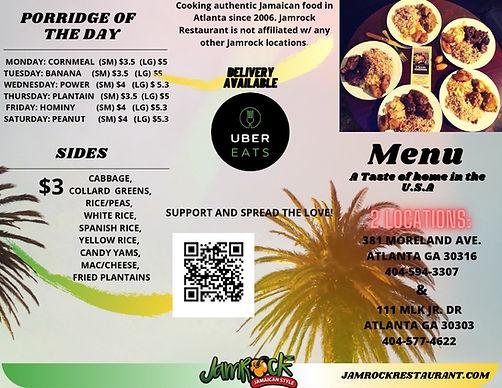 Jamrock Restaurant Menu