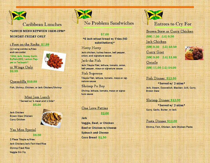 jamrock restaurant/caribbean food