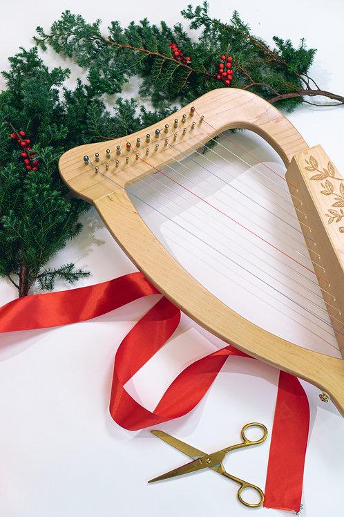 【Christmas Set】 Beary Harpy 12 strings harp