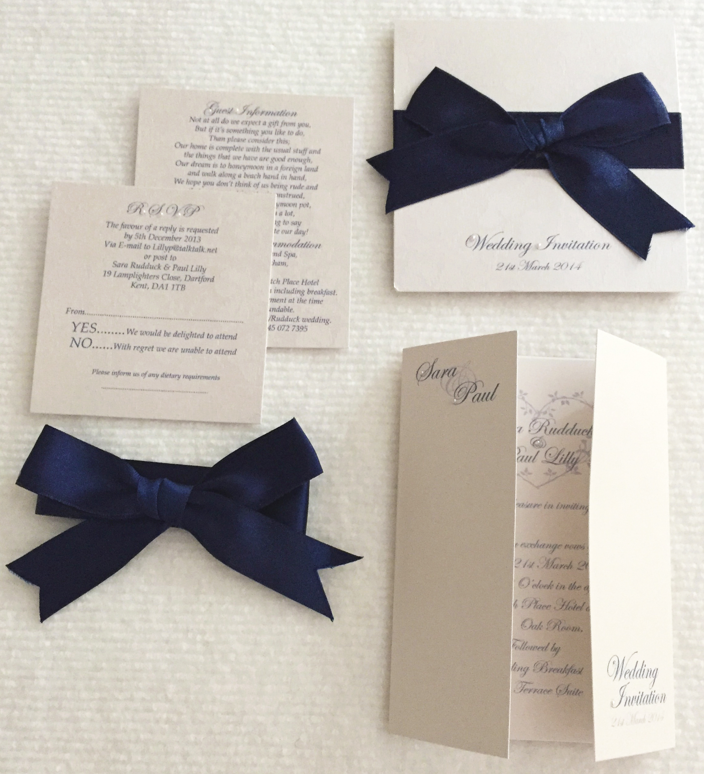 Navy Invitations