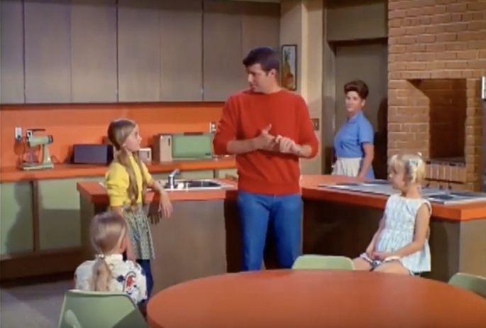 "The ""Brady Bunch"" kitchen had a whole lot of orange.  -  CBS/Youtube"
