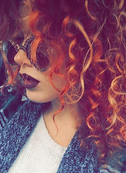 Curly texture hair color