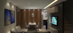 Sala TV com Jantar e Cozinha