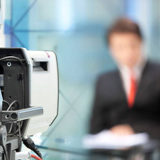 TV presenter skills for anchoring live webcasts and podcasts