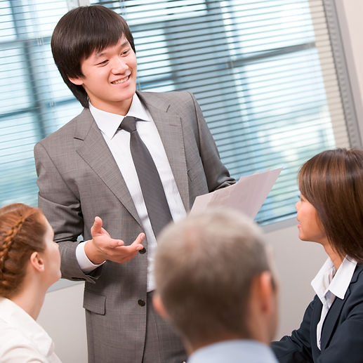 Business presentations for future leaders