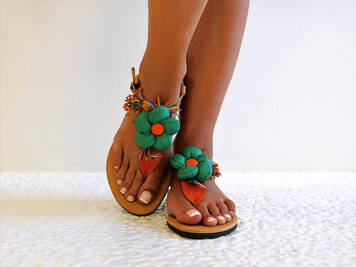 Handmade leather sandals th37