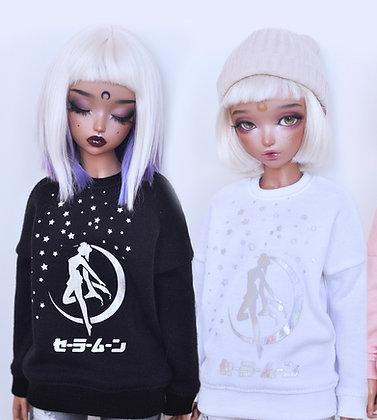"""Sailor Senshi"" B&W sweatshirt"