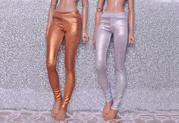 Bronze and Silver leggings