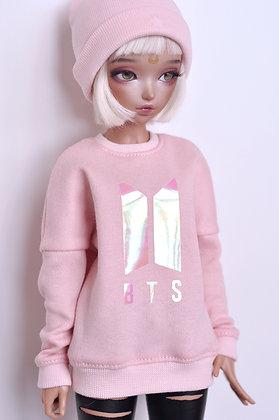 "Pink ""BTS""  sweatshirt"