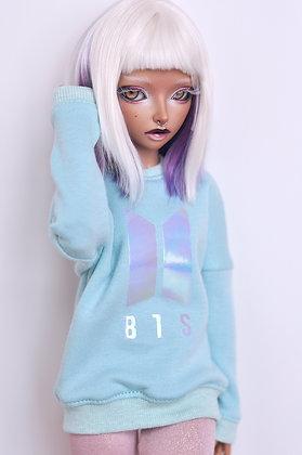 """Mint """"BTS""""  sweatshirt"""