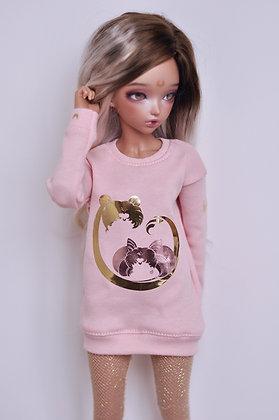 """Pink """"ChibiUsa"""" sweatshirt"""