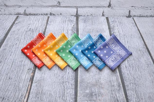 Rainbow + White Bandana