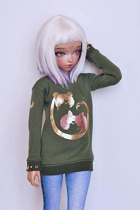 "Khaki ""ChibiUsa"" sweatshirt"