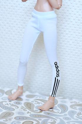 White sports leggings