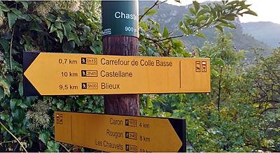 Chemin de grande randonnée GR4, traverse
