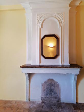 Belle cheminée ancienne non utilisée