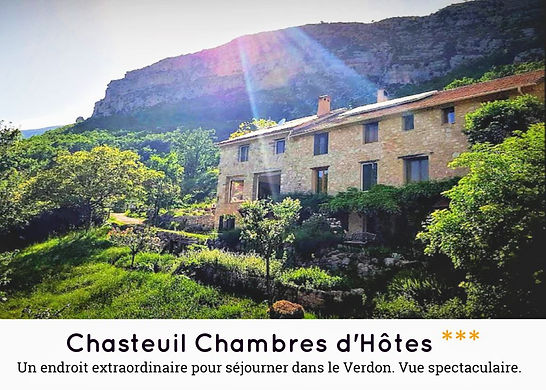 Chasteuil chambre d'hotes