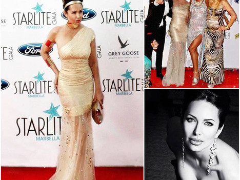 Actress Francesca Vegas, Angelina Jolie Double, at the Antonio Banderas Gala In Starlite! Styled by