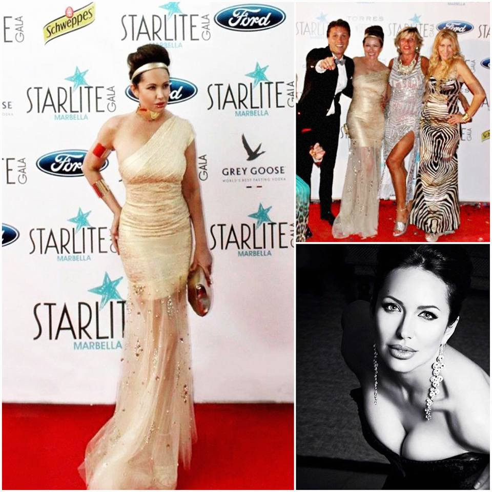 Between the Stars styled by the Stars!! Angelina's double visiting Antonio Banderas at the Starlite Annual Gala. All styled up by Designer Caroline Azzi!