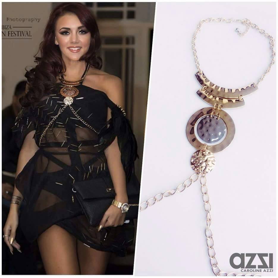 SINGER LYDIA LUCY STARING CAROLINE AZZI EXCLUSIVE BODY JEWELLERY AT LONDON'S VENUE OF THE IBIZA FASHION FESTIVAL!!! ONE OF OUR FAVORITE PIECE
