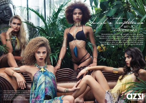 Jungle's Temptations, Summer Fashion Editorial by Caroline Azzi