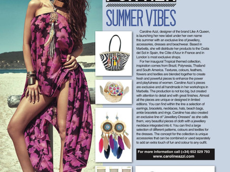 PRESS RELEASE - SUMMER COLLECTION