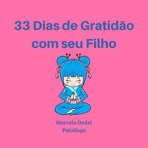 33 Dias de gratidão com o seu filho