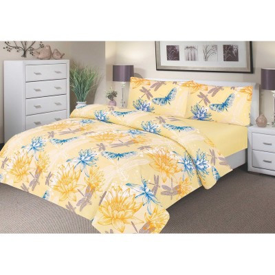 Waterproof Duvet Set - Yellow Waterlily