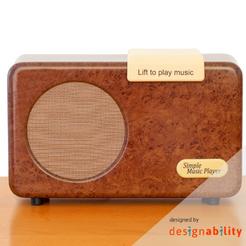 Simple Music Player - Walnut