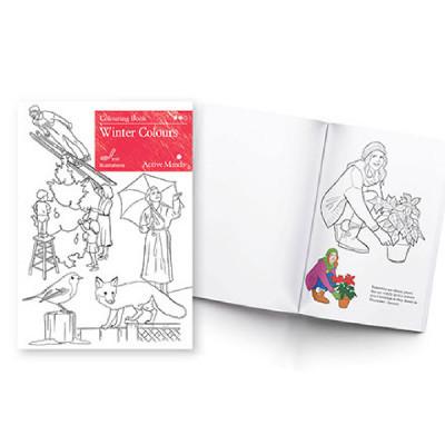 Winter Colours - Colouring Book