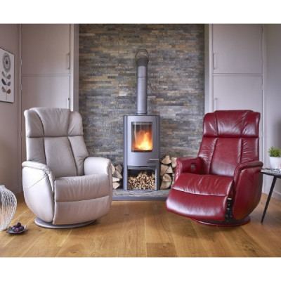 Betterlife Sorrento Leather Electric Recliner Chair