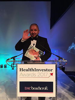 Mariusz Waluk at HealthInvestor Awards 2017