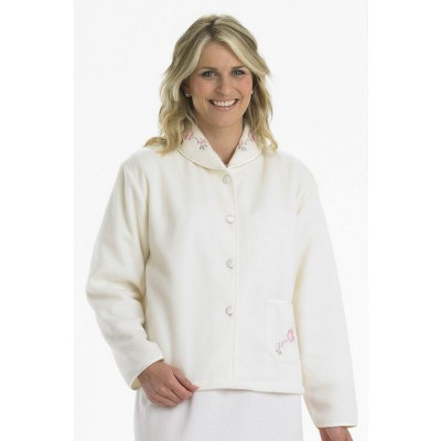 Fleecy Bed Jacket – Cream