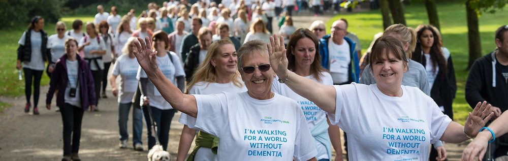Thousands of people around the UK are involved a memory walk to unite people for a world without Dementia